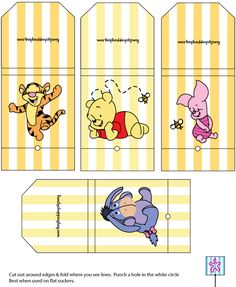 Winnie The Pooh Sucker Wrappers printable winnie the pooh