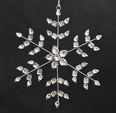 New Victorian glass snowflake