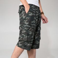 e655fe7ff9 Thin Summer Short Man Multi Pockets 4Xl 5Xl 6Xl Plus Size Casual Short Pants  Army Loose Elastic Waist Cargo Short Man A3374-in Shorts from Men's  Clothing ...