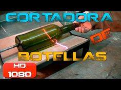 Tutorial - Cortadora de botellas, homemade bottle cutter - YouTube Bottle Cutter, Glass Cutter, Serving Cart, Diy Bottle, Glass Bottles, Outdoor Power Equipment, Woodworking, Singer, Youtube