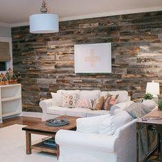 Reclaimed wood walls LOVE