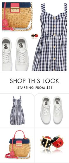 """""""Summer Print: Go for Gingham"""" by sharmarie ❤ liked on Polyvore featuring Vans, Draper James and Bling Jewelry"""