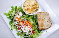 Soups, salads, and sandwiches! We have it all at the Brasserie! Menu Items, Salmon Burgers, Avocado Toast, Wines, Soups, Salads, Sandwiches, Lunch, Breakfast