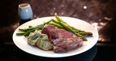 Henry & Anna's Venison with Truffle Mash and Mushrooms & Red Wine Sauce Red Wine Jus Recipe, My Favorite Food, Favorite Recipes, My Kitchen Rules, Wine Sauce, Lamb Recipes, Cafe Food, Latest Recipe, Venison