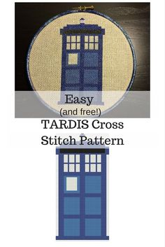 This TARDIS cross stitch pattern is perfect for the Doctor Who fan in your life. It's easy, fun, and FREE!