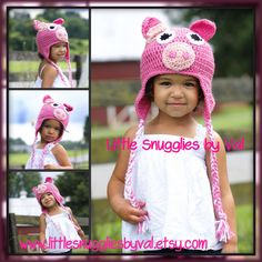 LSBV Pig Hat. Multiple Sizes.Made to Order. Custum Requests Welcome. by LittleSnuggliesbyVal on Etsy https://www.etsy.com/listing/157001888/lsbv-pig-hat-multiple-sizesmade-to-order