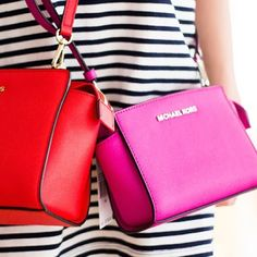 Michael kors medium messenger bag never worn! Brand new never worn fuscia authentic messenger bag MICHAEL Michael Kors Bags