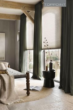 Effect van kleurencombinaties - Home sweet home - Modern Curtains, Curtains With Blinds, Room Inspiration, Interior Inspiration, Muebles Living, Interior Decorating, Interior Design, Curtain Designs, Living Furniture