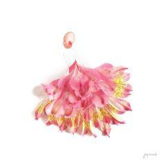 Alstroemeria dancing girl wall print by Japinest on Etsy Light Pink Flowers, Little Flowers, Bulk Flowers Online, Dance Paintings, Teen Girl Fashion, Bee Art, Fashion Wall Art, Arte Floral, Girl Dancing
