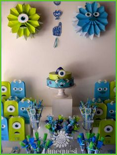 Dimequesi 's Birthday / Monsters Inc. - Photo Gallery at Catch My Party Monster University Birthday, Monster 1st Birthdays, Monster Inc Party, Monster Birthday Parties, 3rd Birthday Parties, First Birthdays, Birthday Ideas, Birthday Decorations, Monsters Inc Baby Shower