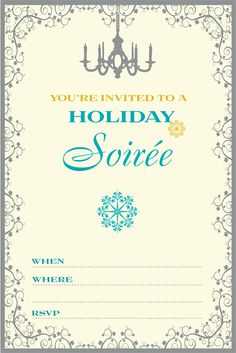 Printable Holiday invites and tags