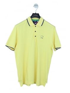 a7483f51859 Paul   Shark Tipped Collar Polo in Yellow - Northern Threads