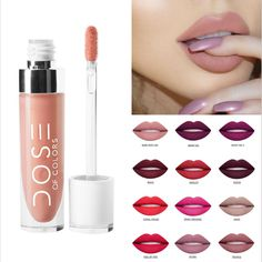 Hot selling!Colorful Make Up Brand Long Lasting Liquid Lipstick DOSE OF COLORS Nude Makeup Matte Liquid Lipstick maquiagem