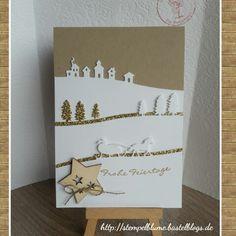 Edgelits Schlittenfahrt+ Stempelt Kling Glöckchen, StampinUp!, Weihnachtskarte...