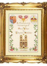 Free pattern - Royal Wedding Sampler