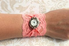 Lace Watch - Coral