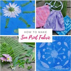 How to Make Sun Print Fabric with Acrylic Paint