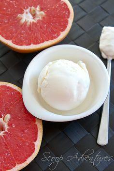 Pink Grapefruit IceCream - [http://www.scoopadventures.com/home/pink-grapefruit-ice-cream.html]