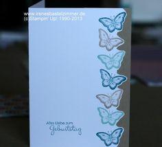 Papillon Potpourrie-Stampin up-savanne-petrol-Geburtstagskarte