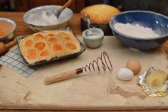 Kitchen Whisk with Wood Handle 112 Scale by WestonMiniature