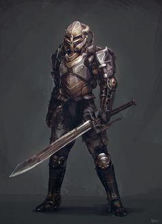 Automaton guard by Marc-Alexandre-ROBBE on DeviantArt Cyberpunk, Robot Concept Art, Armor Concept, Character Concept, Character Art, Character Design, Fantasy Warrior, Sci Fi Fantasy, Space Fantasy