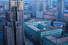 """Associated Press photographer David Guttenfelder was given unprecedented access to North Korea, and gave many people their first look at the reclusive country, including a Pyongyang skyline view on April 12, 2011."" (David Guttenfelder/AP); from The Big Picture."