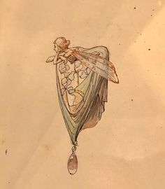 Fleurs Art Nouveau, Bijoux Art Nouveau, Art Nouveau Jewelry, Art Nouveau Tattoo, Jewellery Sketches, Jewelry Drawing, Design Art Nouveau, Illustration Art Nouveau, Jugendstil Design