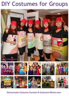 Homemade Costumes for Groups - tons of DIY costume ideas!