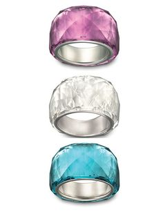 Swarovski Nirvana ring. The blue and purple colors are stunning.