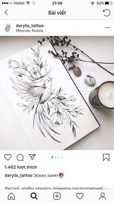 – Tattoo ideen – – Hobbies paining body for kids and adult Tattoo Femeninos, Piercing Tattoo, Back Tattoo, Leg Tattoos, Tattoo Drawings, Body Art Tattoos, Dragon Drawings, Piercings, Bird And Flower Tattoo