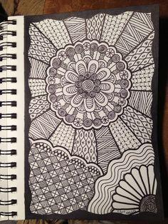 Original Doodle by PLHill -- Zentangle Doodle Art Drawing, Zentangle Drawings, Doodles Zentangles, Zentangle Patterns, Art Drawings, Zen Doodle Patterns, Mandala Art, Mandala Doodle, Mandala Drawing
