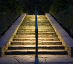 Keep your pathways safe by introducing LED strips or spotlights to your exterior… Driveway Lighting, Facade Lighting, Cove Lighting, Stair Lighting, Indirect Lighting, Pathway Lighting, Exterior Lighting, Landscape Lighting, Outdoor Lighting