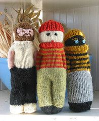 knitted dolls - Jim's Mom made these dolls for our little girl!