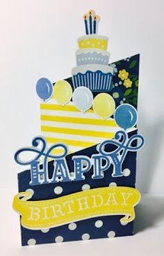 Stampin' Starbucks Mama: Make it Monday Z-Fold Card Birthday Cards For Boys, Masculine Birthday Cards, Handmade Birthday Cards, Happy Birthday Cards, Tri Fold Cards, Fancy Fold Cards, Folded Cards, Step Cards, Cards Diy