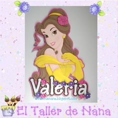 Aplique Princesa Bella de Disney
