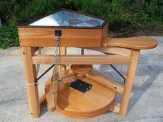 Leach treadle wheel - human powered pottery wheel