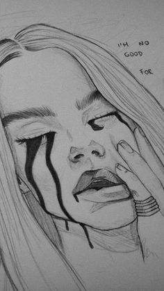 Picture 1 - (pictures, tips, color) Sad Drawings, Girl Drawing Sketches, Dark Art Drawings, Art Drawings Sketches Simple, Amazing Drawings, Pencil Art Drawings, Realistic Drawings, Beautiful Drawings, Evvi Art