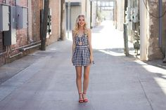 Klassically, Kenzie: GINGHAM ROMPER