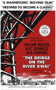 The Bridge On The River Kwai (1957) #movie #movieposter