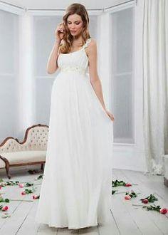 Vestido para noiva gestante