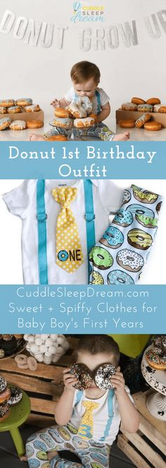 6fdde3f02 donut 1st birthday outfit boy, for cake smash 1st Birthday Outfit Boy, 1st  Birthday