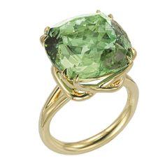 Tamir Glorious Mint Green Tourmaline Ring. thumbnail 1