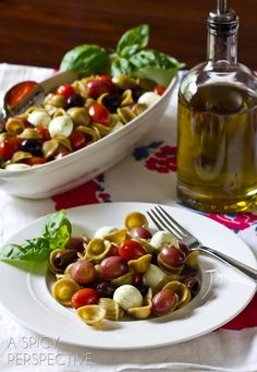 Orecchiette Pasta with Roasted Grapes and Tomatoes   ASpicyPerspective.com