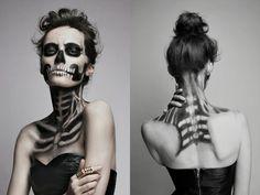 Gesicht und Dekolleté Schminke Halloween