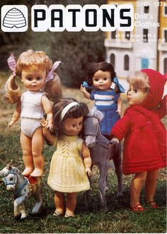 Herbie's Doll Sewing, Knitting & Crochet Pattern Collection: 14 inch dolls Knitting Pattern