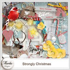 Strongly Christmas :: ALL NEW :: Memory Scraps
