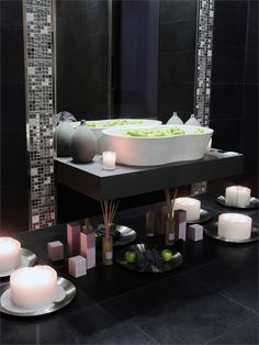 Porcelain stoneware wall/floor tiles LIVE by @Margres Ceramic Style #bathroom
