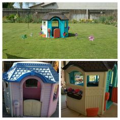 Little Tikes Victorian Cottage Repainted With Spray Paint