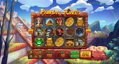 """Graphic design of background, symbols and interface for the game slot machine """"Panda Jones"""" http://slotopaint.com/"""