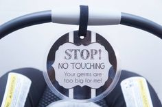 A great baby shower gift for a new mom. Attach to a newborn car seat, stroller or baby carrier www.tags4tots.com